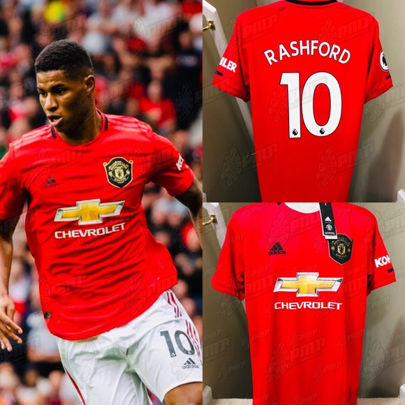 more photos 16d6d a47d5 Rashford #10 Manchester United Home Soccer Jersey NWT